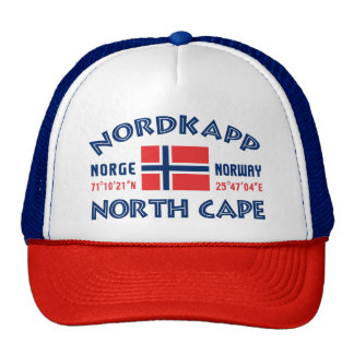 NORDKAPP Norwegen Hut Retrokappe