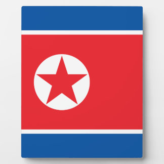 Nordkorea-Flagge Fotoplatte