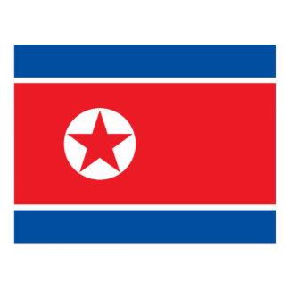 Nordkorea-Flagge Postkarte