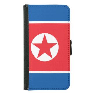 Nordkorea-Flagge Samsung Galaxy S5 Geldbeutel Hülle
