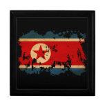 Nordkorea-Flagge Schmuckschachteln