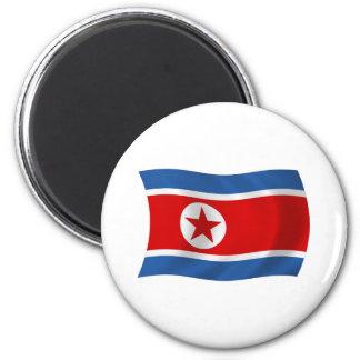 Nordkorea-Flaggen-Magnet Runder Magnet 5,7 Cm