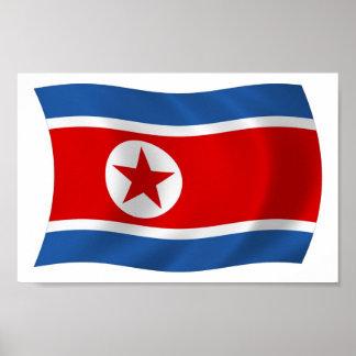 Nordkorea-Flaggen-Plakat-Druck Poster