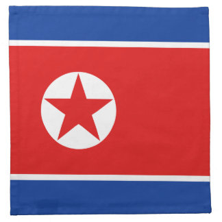 Nordkorea-Flaggen-Serviette Serviette