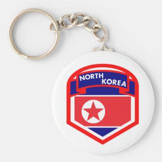 Nordkorea-Flaggen-Wappen Schlüsselanhänger