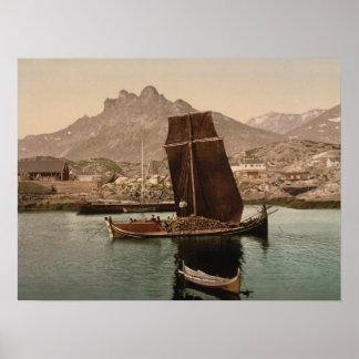 Nordlandsbaat, Nordland, Norwegen Poster