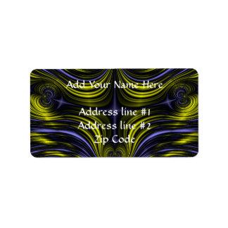 Nordlicht-Aurora Borealis Fraktal Adressaufkleber
