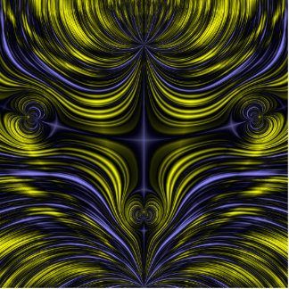 Nordlicht-Aurora Borealis Fraktal Freistehende Fotoskulptur