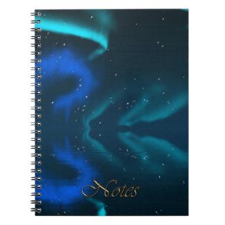 Nordlicht-Aurora Natur-Liebhaber Notizbuch Spiral Notizblock