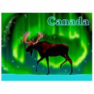 Nordlicht-Elche - Kanada Fotoskulptur Magnet