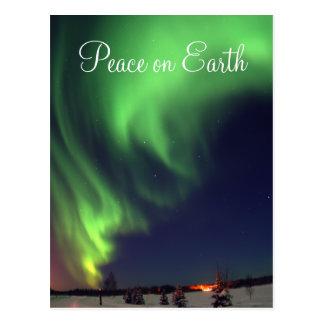 Nordlicht-Feiertags-Postkarte Postkarten