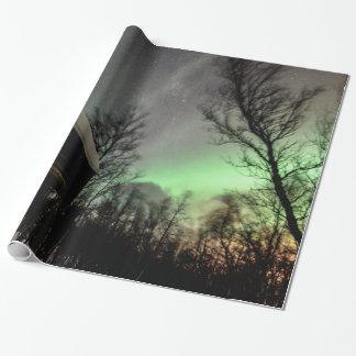 Nordlicht-Packpapier Geschenkpapier