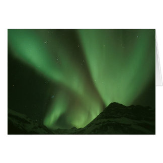 Nordlichter, Aurora borealis auf Vorbergen von Karte