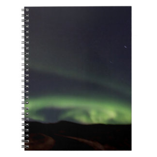 Nordlichter - Aurora Borealis in Island Notizblock