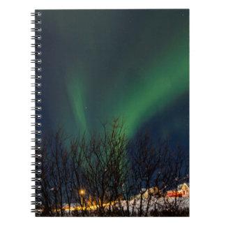Nordlichter - Aurora Borealis Island Notizblock