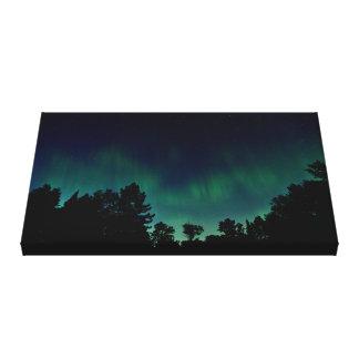 Nordlichter - Aurora Borealis Nachthimmel-Foto Leinwanddruck