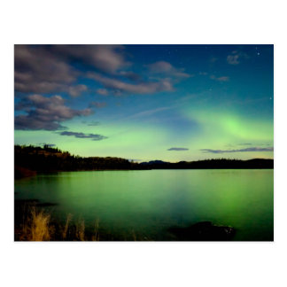 Nordlichter (Aurora borealis) Postkarte