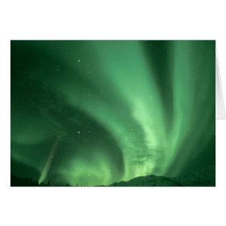 Nordlichter, Aurora borealis, über Vorbergen Karte