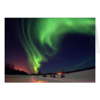 Nordlichter in Bear See Grußkarte