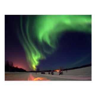 Nordlichter in Bear See Postkarte