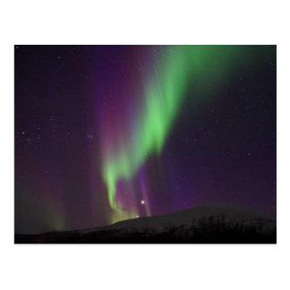 Nordlichter in Lappland, Schweden Postkarte