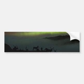 Nordlichter mit Hirsch-Autoaufklebern Autoaufkleber
