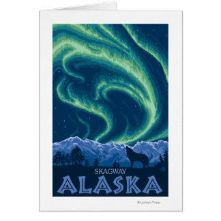 Nordlichter - Skagway, Alaska Karte