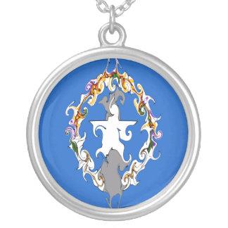 Nordmarianas-Gnarly Flagge Halskette Mit Rundem Anhänger