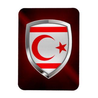 Nordmetallisches Emblem zyperns Magnet