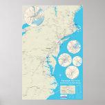 Nordostschienen-Kartenversion 1,0 Plakatdruck