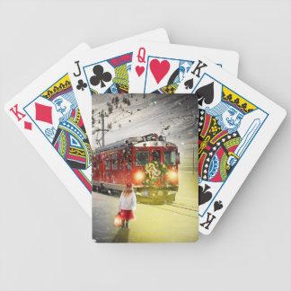 Nordpoleil- Weihnachtszug - Sankt-Zug Bicycle Spielkarten
