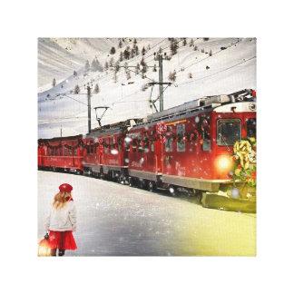 Nordpoleil- Weihnachtszug - Sankt-Zug Leinwanddruck