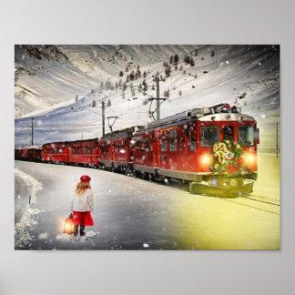 Nordpoleil- Weihnachtszug - Sankt-Zug Poster