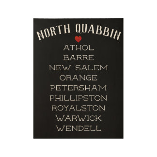 NordQuabbin Plakat Holzposter