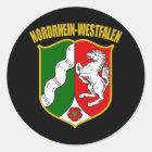 Nordrhein-Westfalen COA Runder Aufkleber