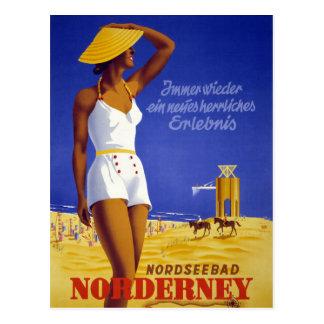 Nordseebad Norderney Deutschland Vintages Plakat Postkarte