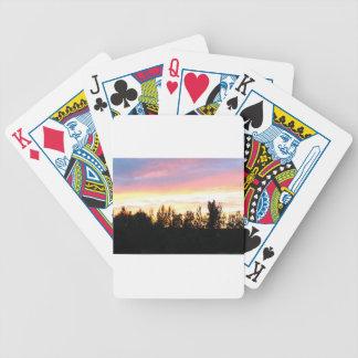 Nordsonnenuntergang Bicycle Spielkarten
