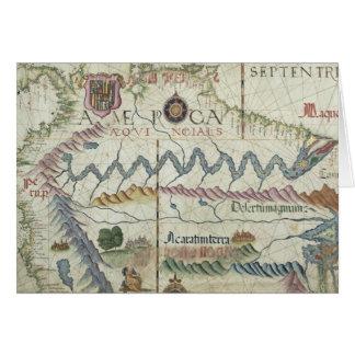 Nordsüdamerika, Detail von der Welt Grußkarte