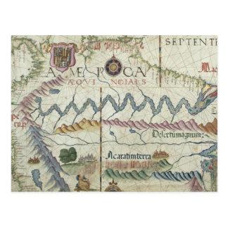 Nordsüdamerika, Detail von der Welt Postkarten