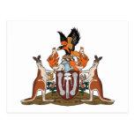 Nordterritorium-Wappen Postkarte
