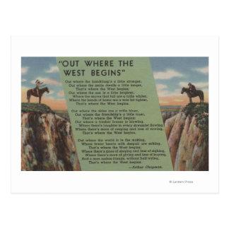 """Nordwestamerikanischer Ureinwohner """"heraus, wo der Postkarte"""