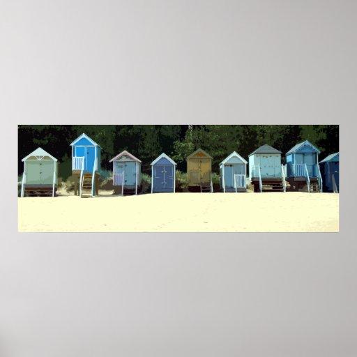 NORFOLK BEACH-HUTS 2 PLAKATE
