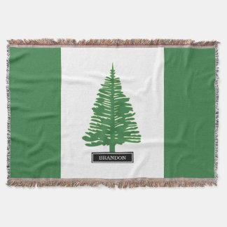 Norfolk-Insel-Flagge Decke