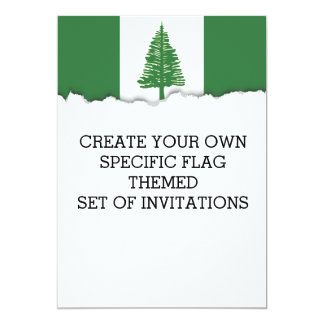Norfolk-Insel-Flagge Karte