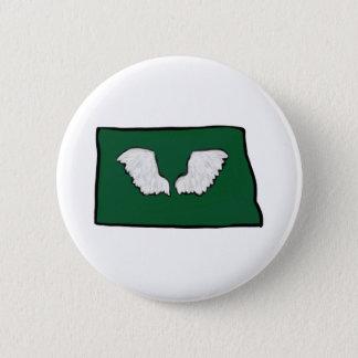 Norht Dakota starke Flügel Runder Button 5,7 Cm