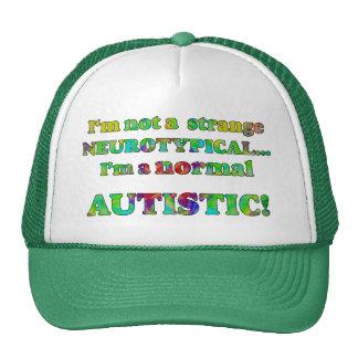 Normale autistische Hüte Trucker Mützen