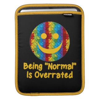 Normales überbewertetes (Autismus) iPad Sleeve