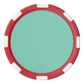 Normallack des Lucite-grüne Frühlings-2015 Pokerchips