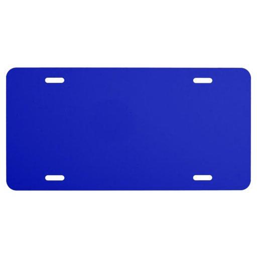 Normallack: Königsblau US Nummernschild