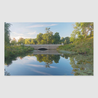 Normandale See-Park und Brücke Rechteckiger Aufkleber